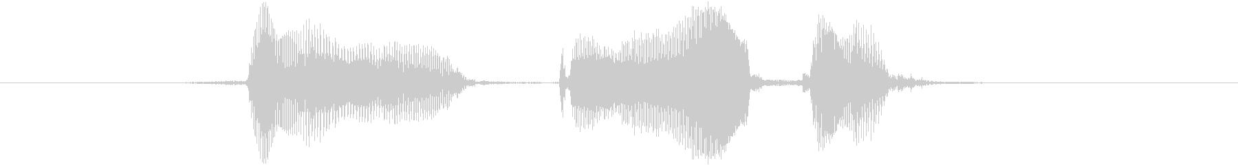 フォーカードの未再生の波形