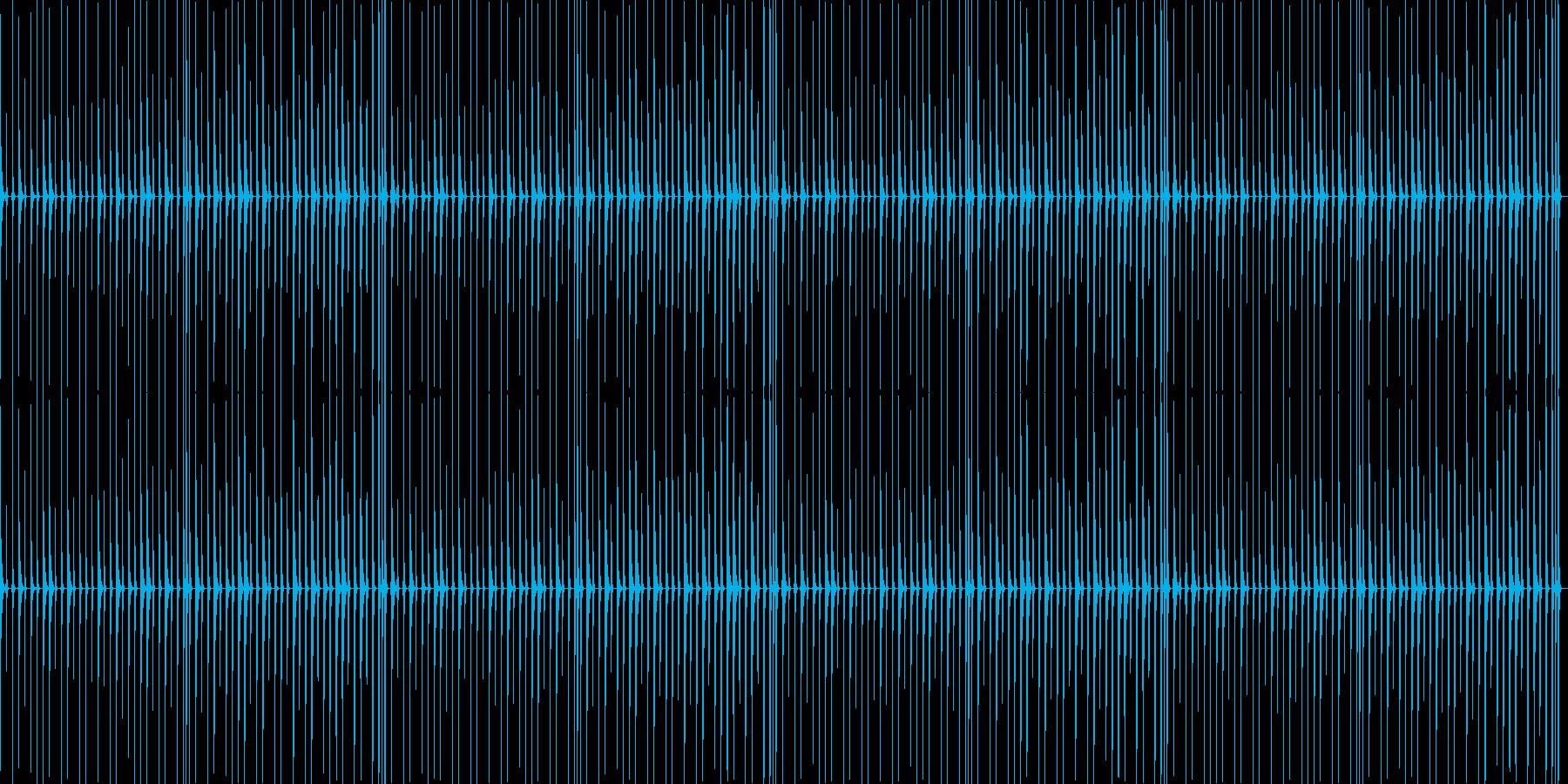 チープなドラムフレーズの再生済みの波形