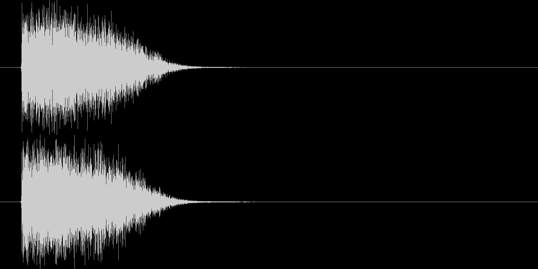 シンセのインパクト音の未再生の波形