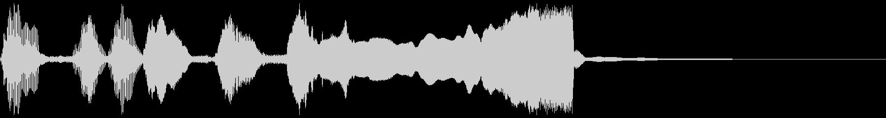 シンプルなファンファーレ1の未再生の波形