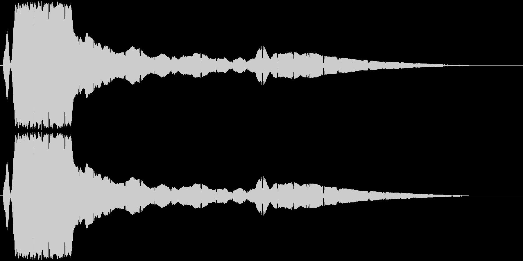 ヒューンと落下(切れた凧のように落ちる)の未再生の波形
