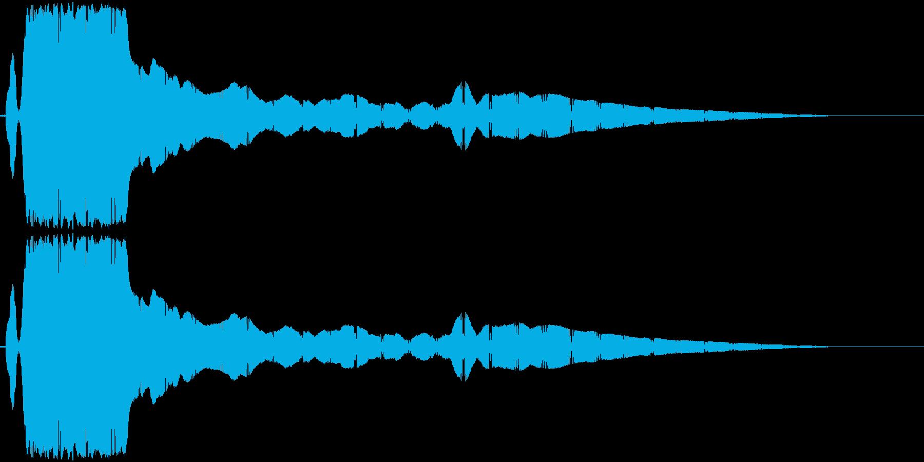ヒューンと落下(切れた凧のように落ちる)の再生済みの波形