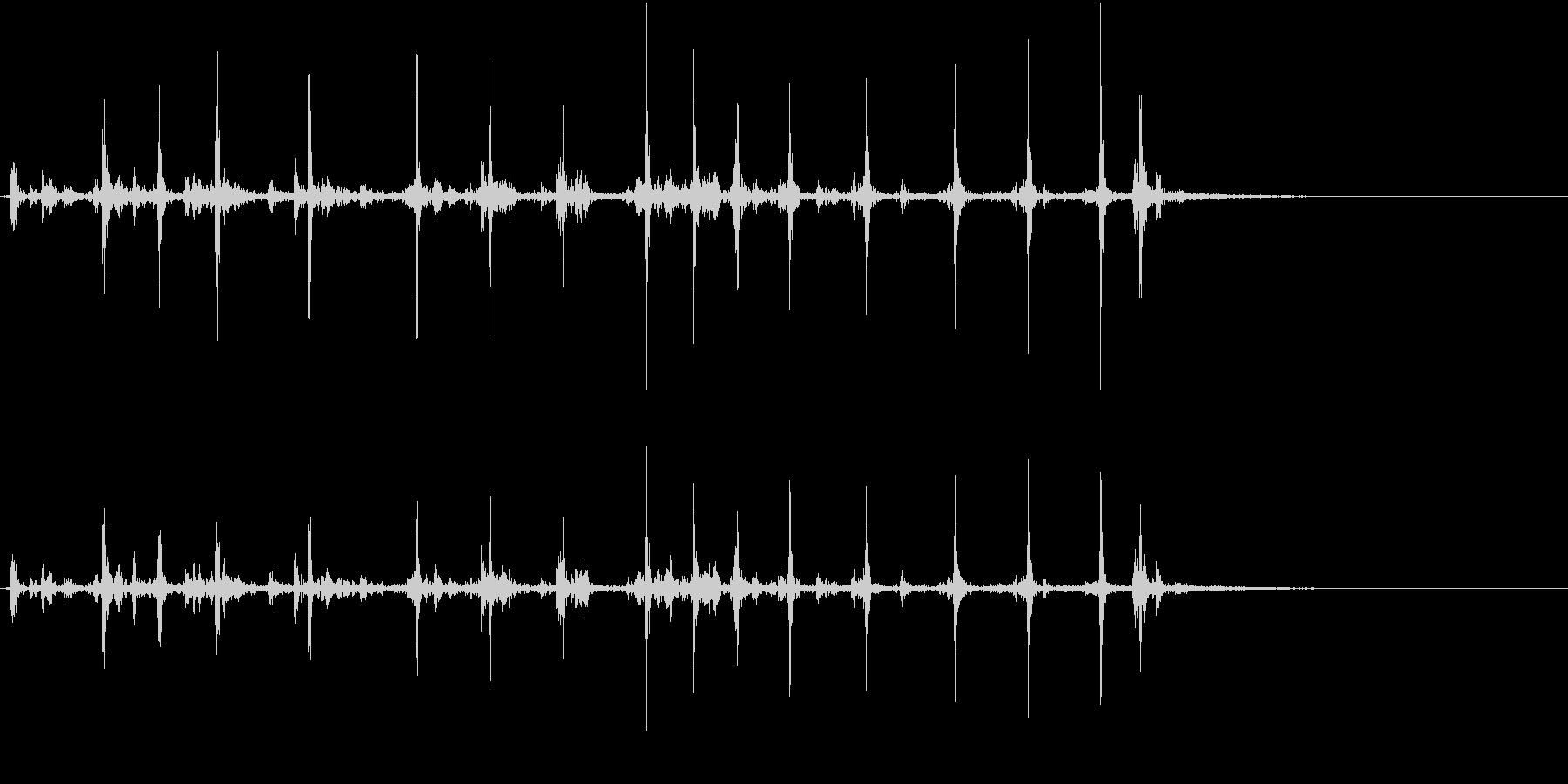 【生録音】カッターナイフの音 14の未再生の波形