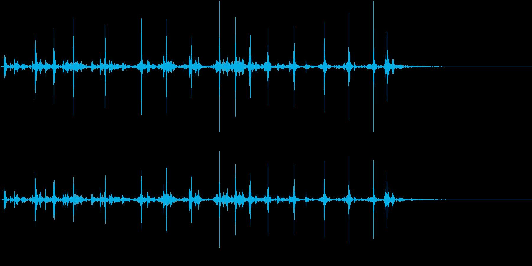 【生録音】カッターナイフの音 14の再生済みの波形