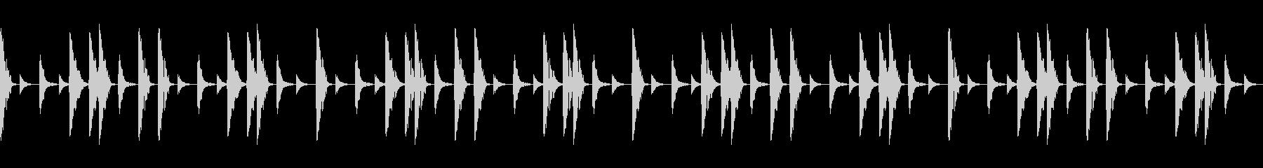 シンプルなヒップホップ系ドラムビートの未再生の波形