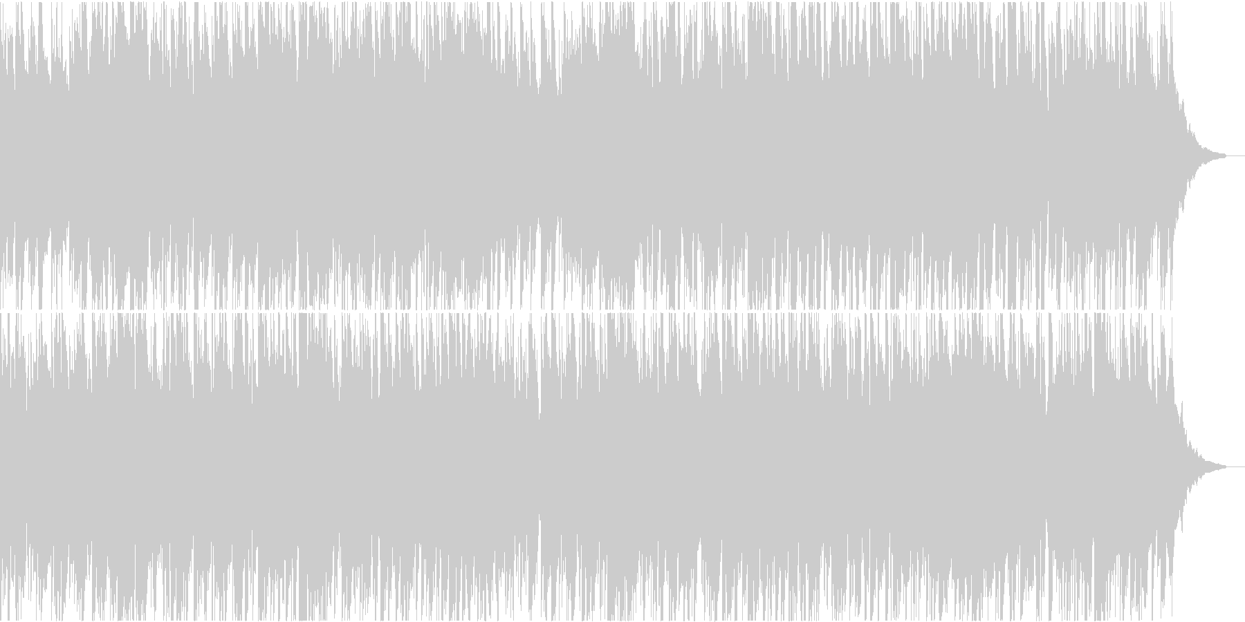 ほんわかしたエレピの曲ですの未再生の波形