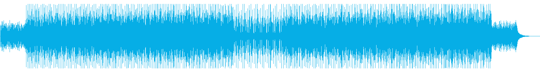 ダークなミニマルテクノの再生済みの波形