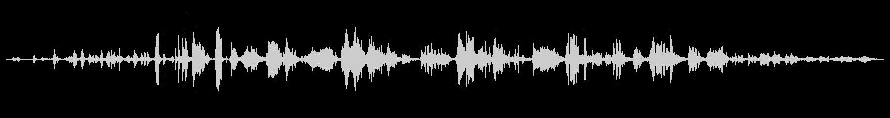 キビタキのケンカ(くるくる回りながら)の未再生の波形