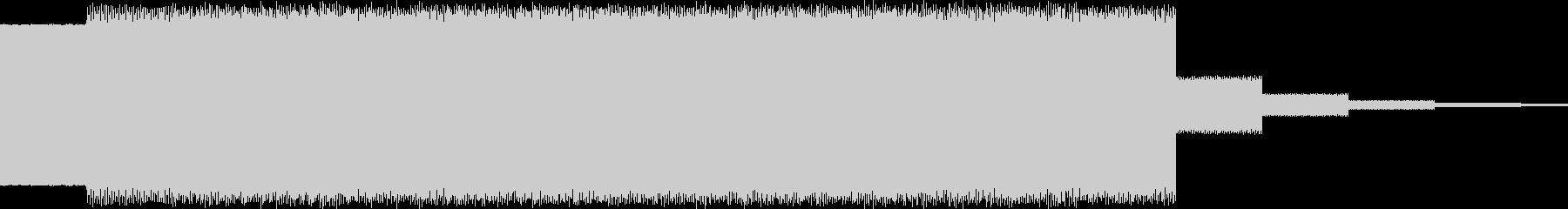 上昇電子音、ピューの未再生の波形