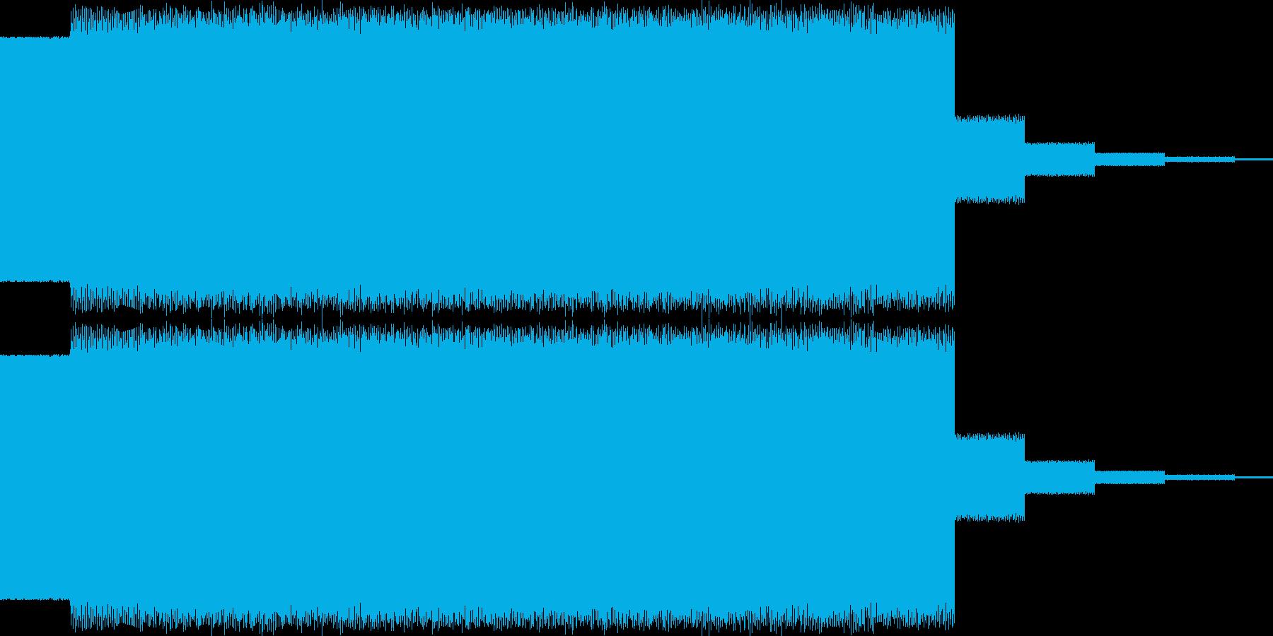 上昇電子音、ピューの再生済みの波形