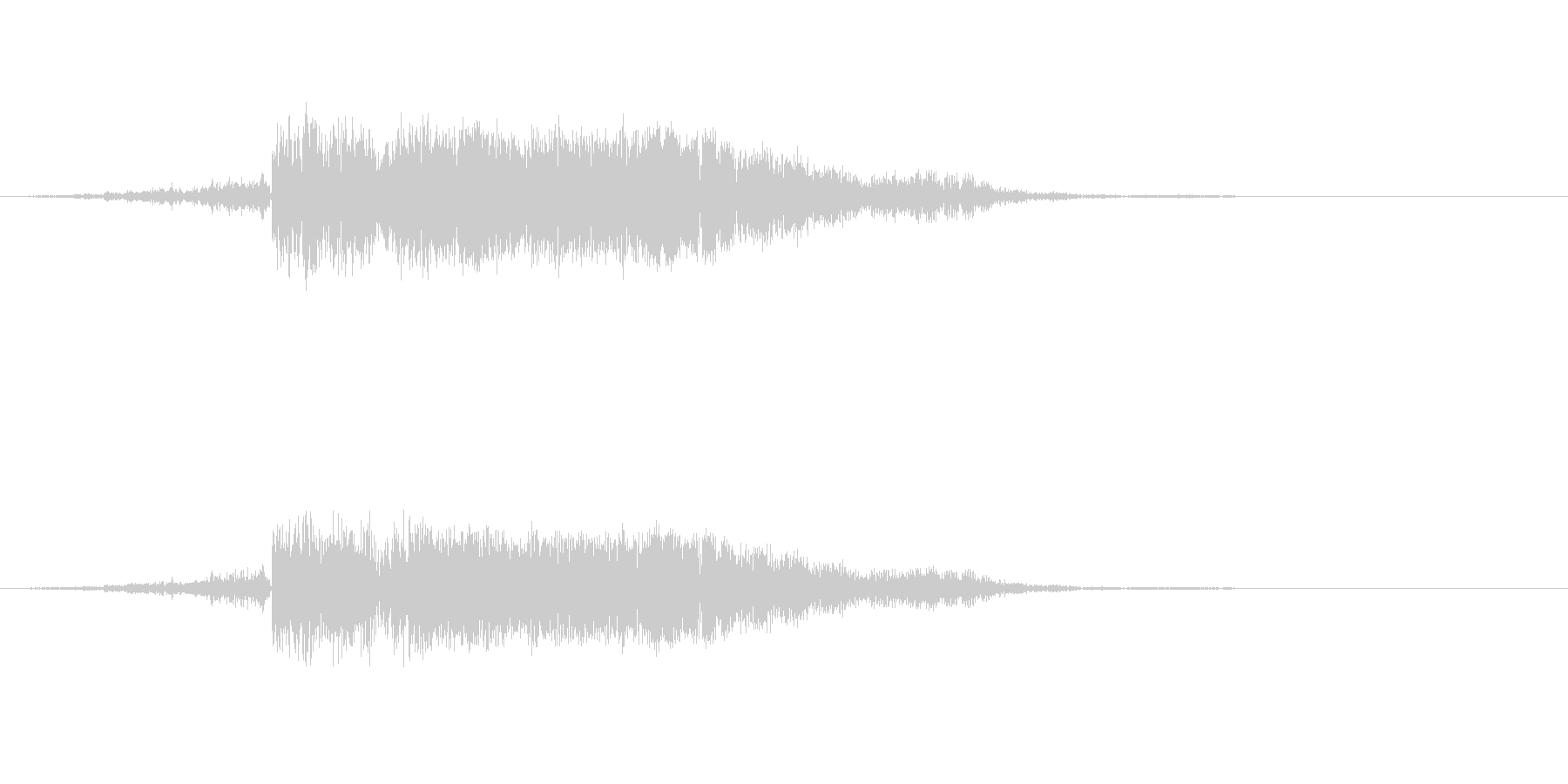 シャキン 金属 剣 攻撃の未再生の波形