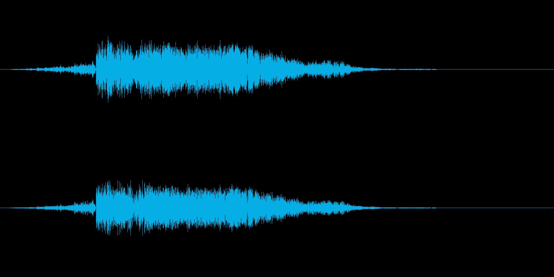 シャキン 金属 剣 攻撃の再生済みの波形