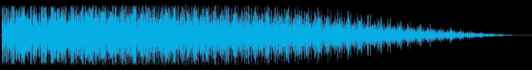 ワープエンジン(安定状態にある効果音)の再生済みの波形