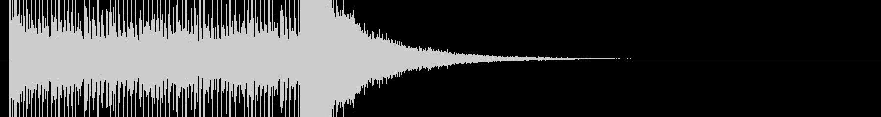 結果発表前のドラムロールの未再生の波形