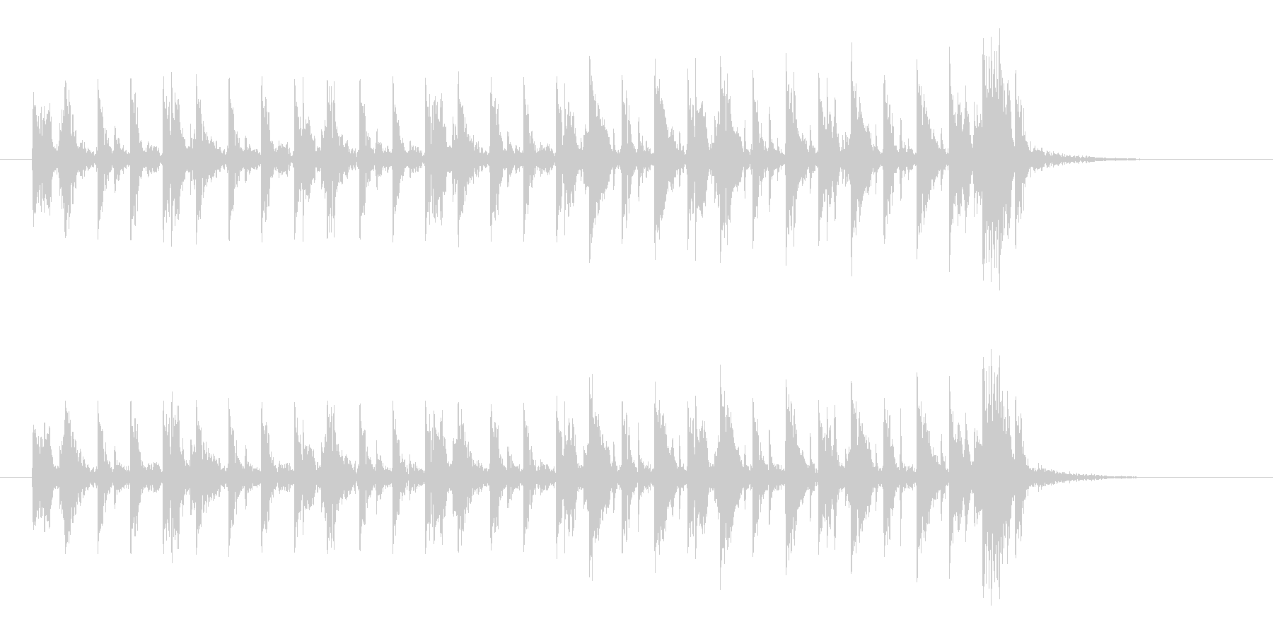 アップテンポな不思議な音楽の未再生の波形