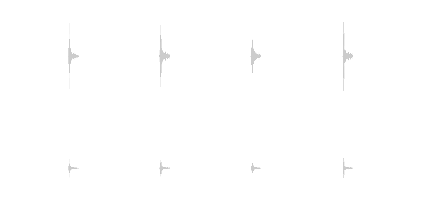マラカスの音×4回(チッチッチッチッ)の未再生の波形