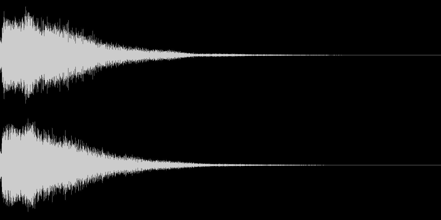 琴と刀の【シャキーン!】和風ロゴ 14の未再生の波形