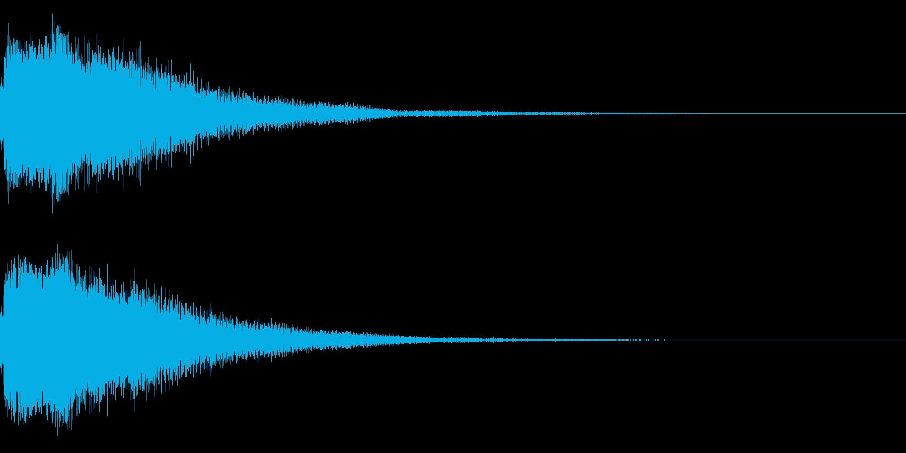 琴と刀の【シャキーン!】和風ロゴ 14の再生済みの波形