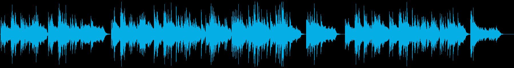 心にアクセスするソロピアノの調べの再生済みの波形