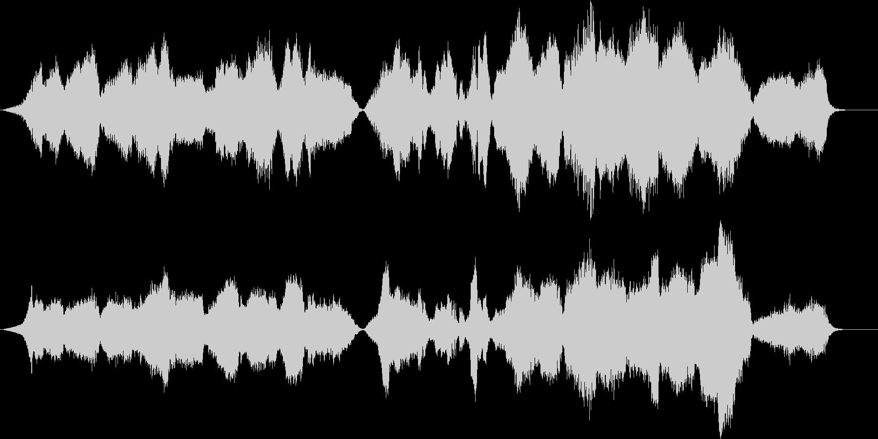悲壮感と希望の弦楽四重奏・バイオリンソロの未再生の波形
