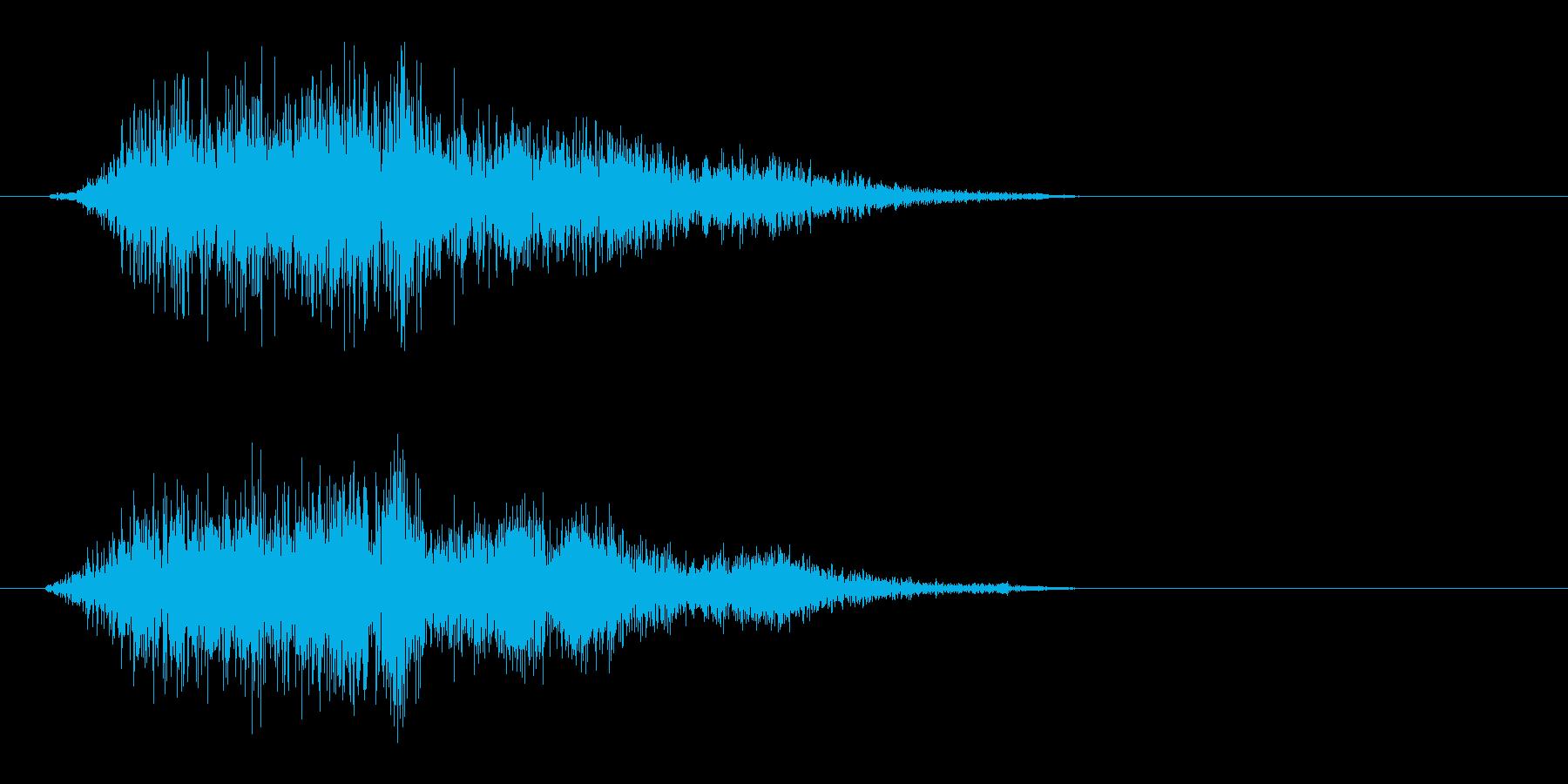 ザー(摩擦系の音色)の再生済みの波形