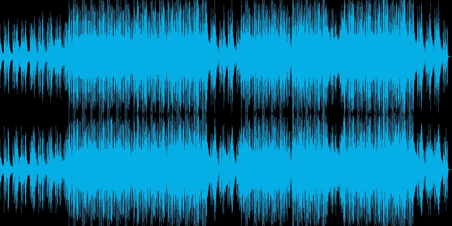 疾走感のビートとベース、マイナージャズ調の再生済みの波形