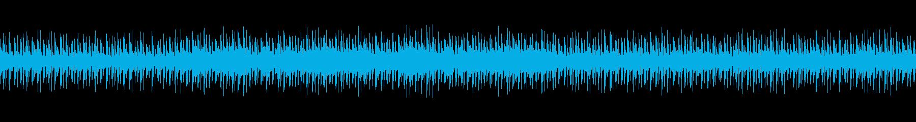 ほのぼのしたわくわく感のあるアコギBGMの再生済みの波形