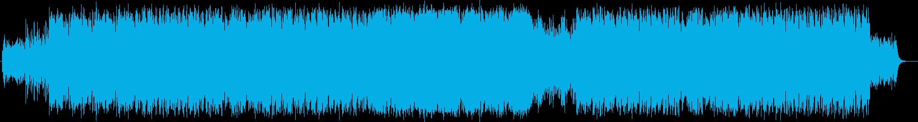 ミドルテンポの宇宙を感じさせるBGMの再生済みの波形