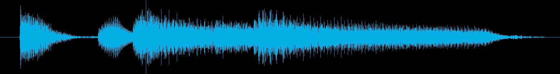 お洒落なピアノの3秒ジングルの再生済みの波形