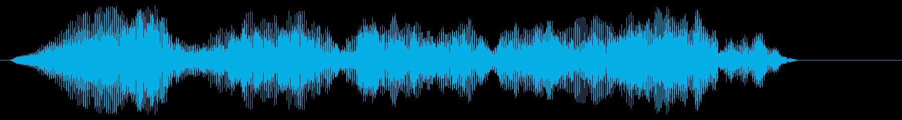 イヤイヤ(甲高い電子音の効果音)の再生済みの波形