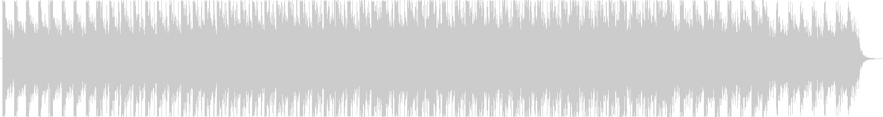 無機質なイメージのエレクトロニカBGMの未再生の波形