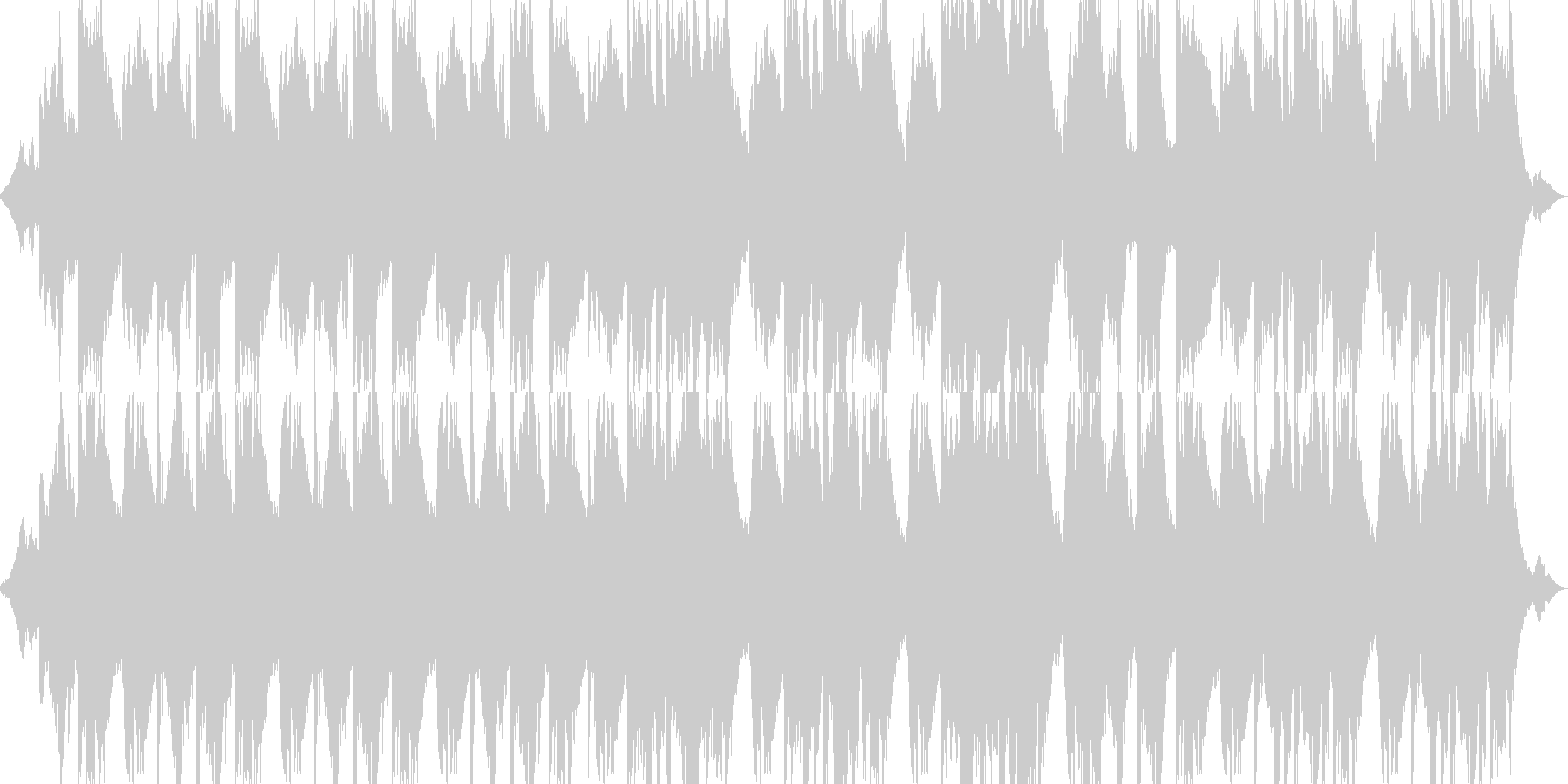 ブランコをイメージしたピアノ曲の未再生の波形