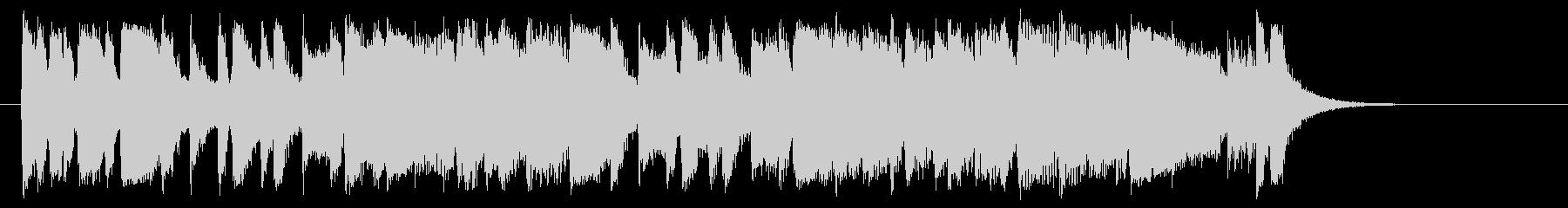 元気なアップテンポのシンセサイザー曲の未再生の波形