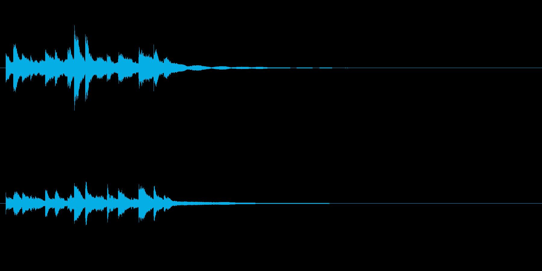 和製ベルの鈴(れい)の清らかな音+FXの再生済みの波形