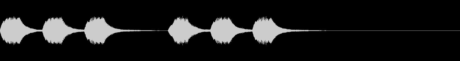 緊急速報の時のアラート音の未再生の波形