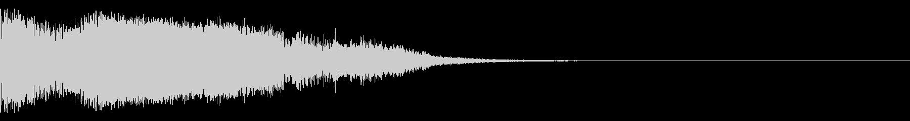 ガラスを割った音の未再生の波形