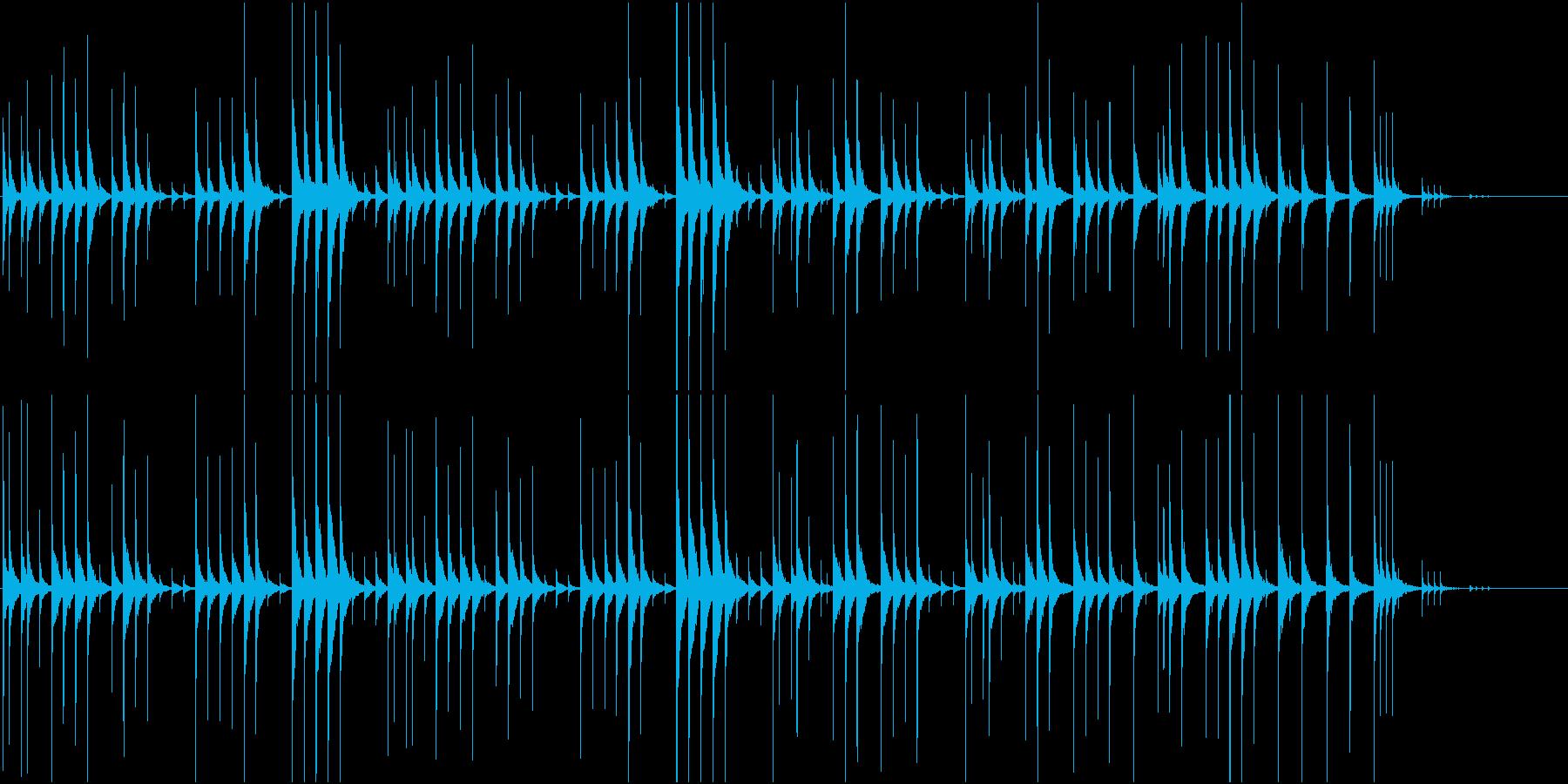 ディレイ仕様の木琴の再生済みの波形