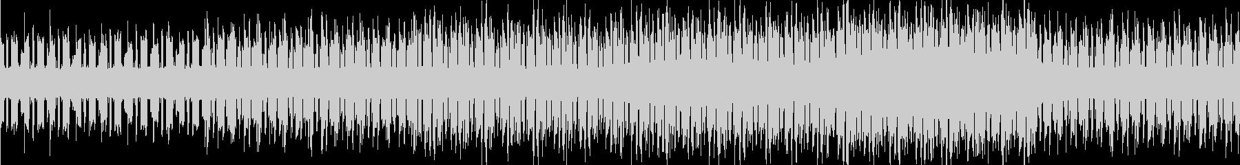 テンポが速い暗い曲の未再生の波形
