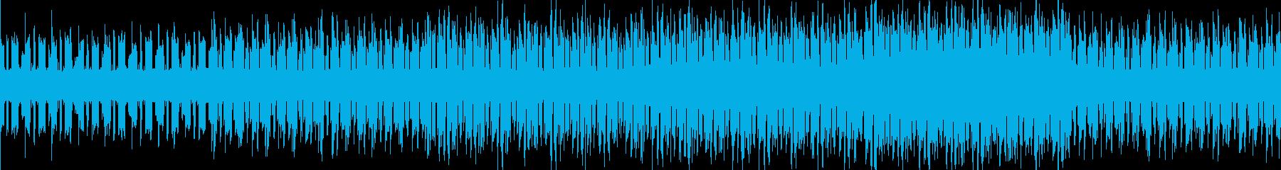 テンポが速い暗い曲の再生済みの波形