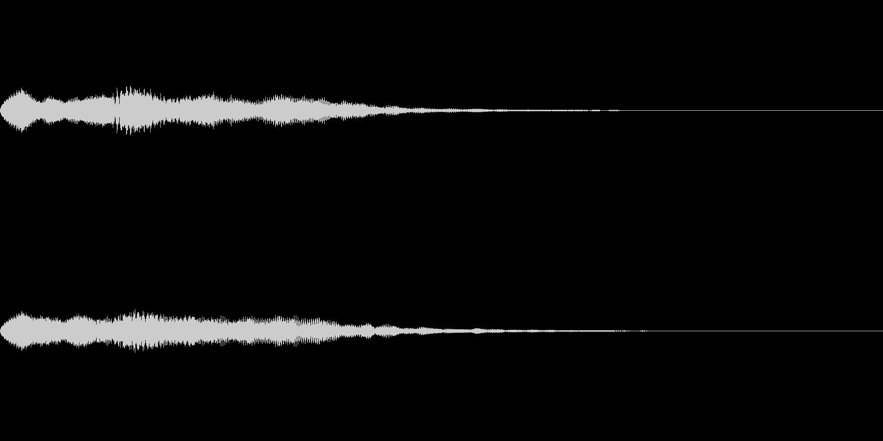 ゲームで眠った時に流れるジングル曲の未再生の波形