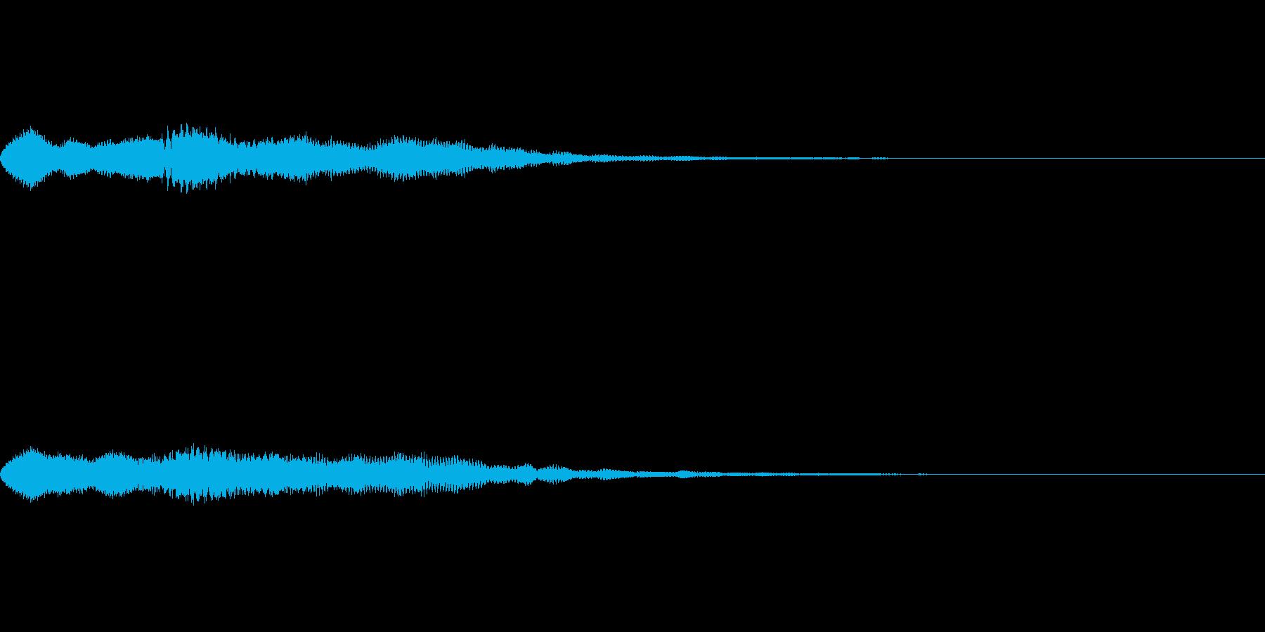 ゲームで眠った時に流れるジングル曲の再生済みの波形