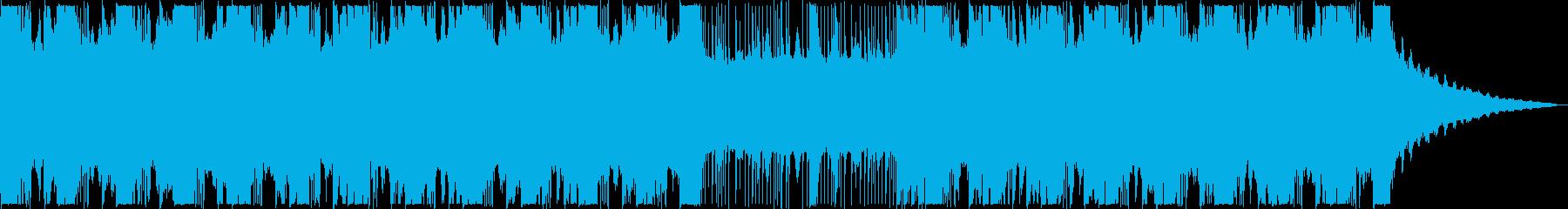 迫力のあるサスペンス風BGMの再生済みの波形