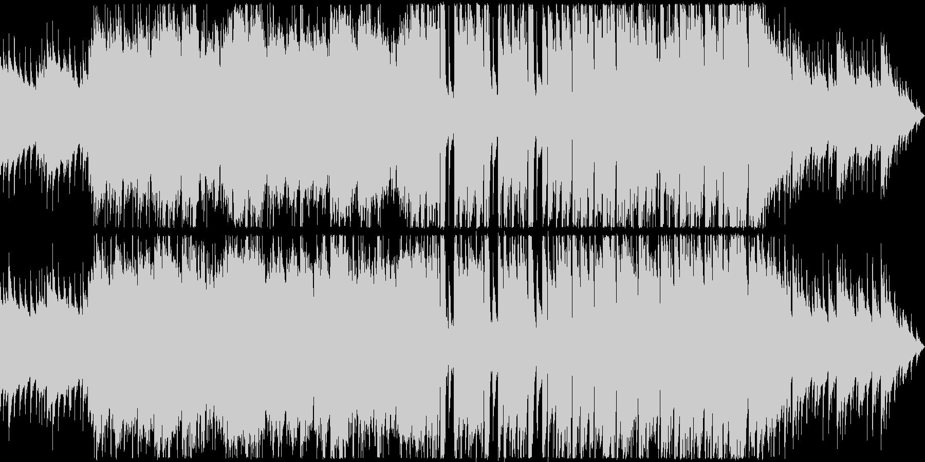 仲良しグループが談笑するイメージのBGMの未再生の波形