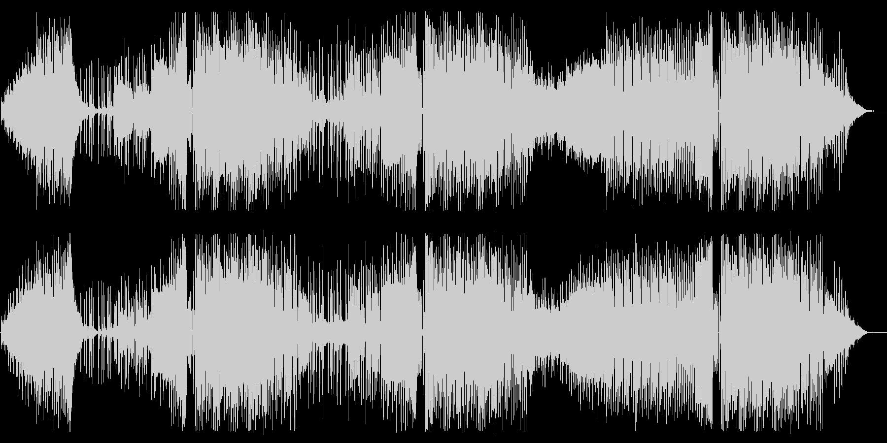 オシャレで可愛いエレクトリックポップの未再生の波形
