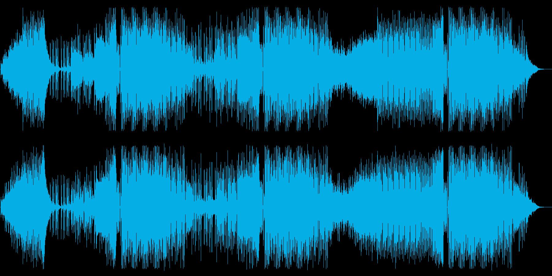 オシャレで可愛いエレクトリックポップの再生済みの波形