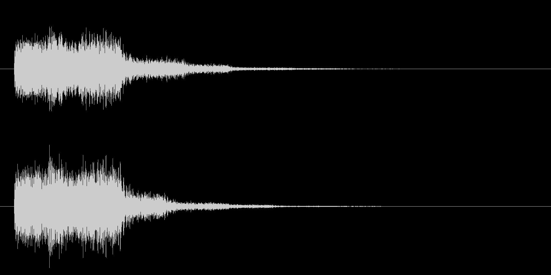 「ウゥーン」ディストーションGスライド音の未再生の波形