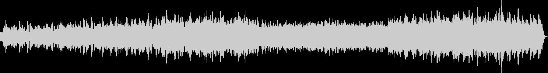 幻想的でバロック調のハープシコードの曲の未再生の波形