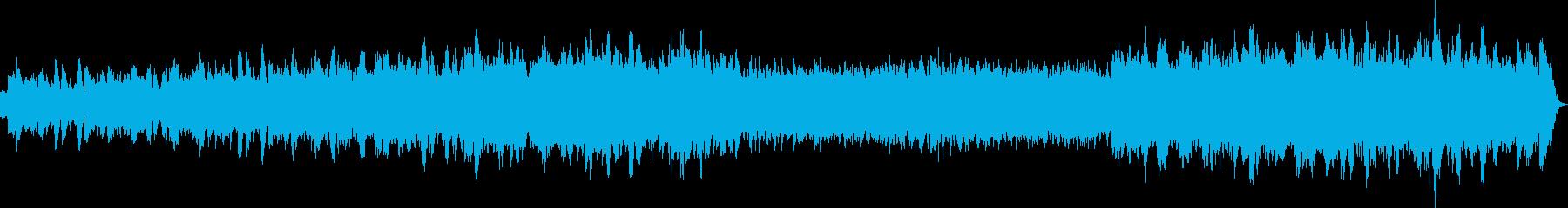 幻想的でバロック調のハープシコードの曲の再生済みの波形