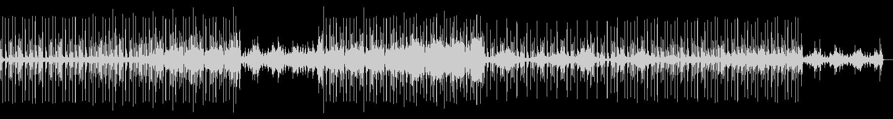シンセのアルペジオとダンサブルなビートの未再生の波形