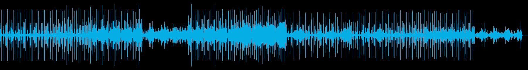 シンセのアルペジオとダンサブルなビートの再生済みの波形